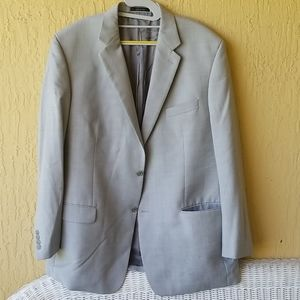 Silver Calvin Klein mens suit jacket Sz 46L
